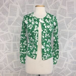 Old Navy Kelly Green Floral Button Cardigan Small